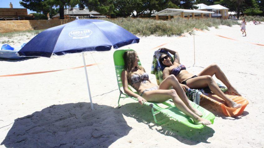 beach and um,